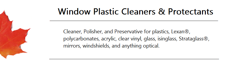 Window Plastic Cleaners and Protectants Banner