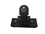 Universal Deck Hinge With Slider - Delrin Black