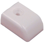 Sliding Track End Cap - Delrin White