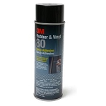 3M  80 Rubber & Vinyl Spray Adhesive - 18oz