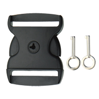 Lockable Webbing Release Buckle