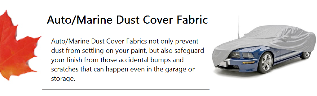 Auto-Marine Dust Cover Fabric Banner
