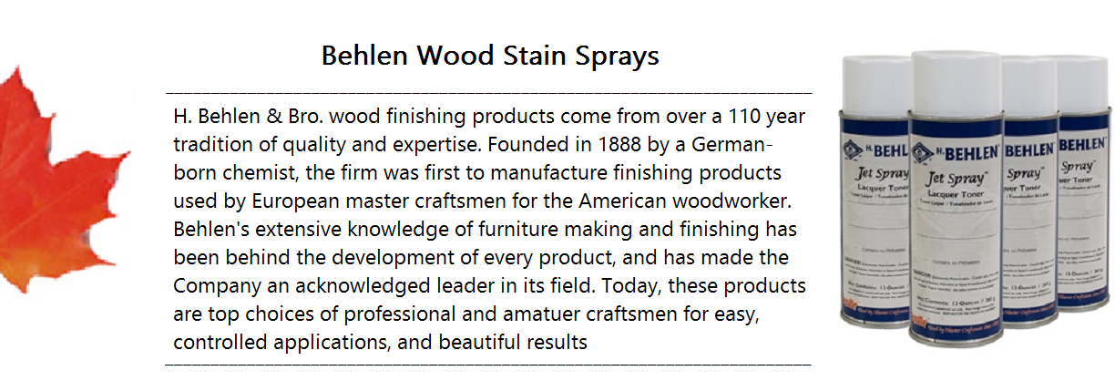 Behlen Wood Stain Spray Banner