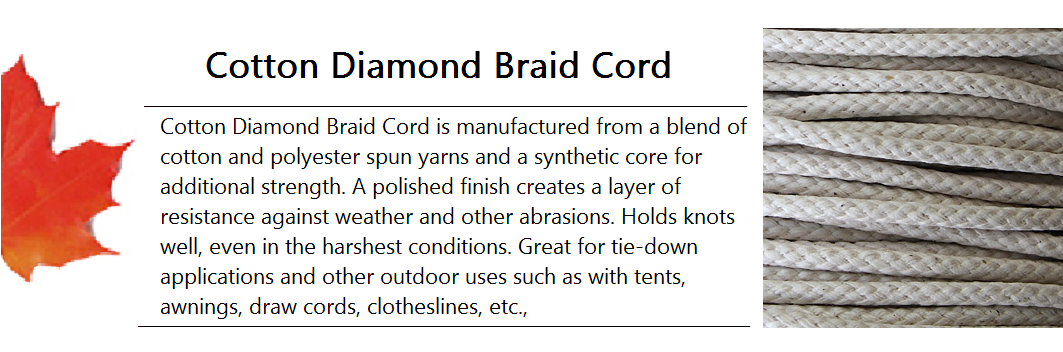 Cotton Diamond Braid Cord Banner