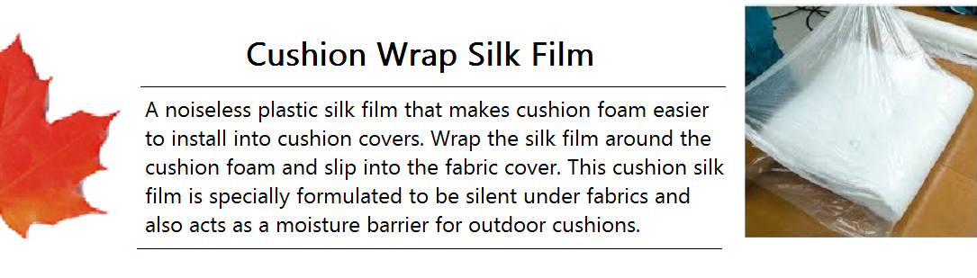 Cushion Wrap Silk Film Banner