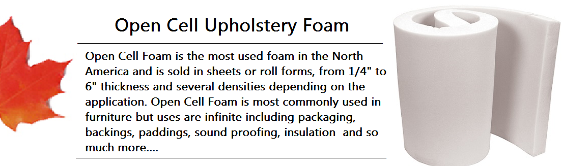 Open Cell Upholstery Foam Banner