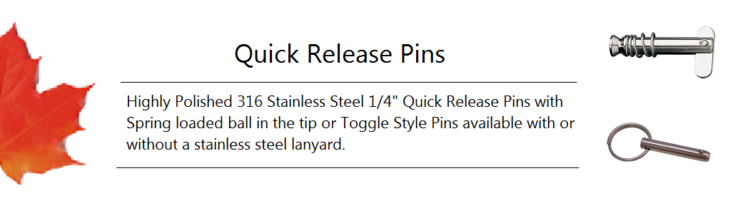 Quick Release Pin Banner