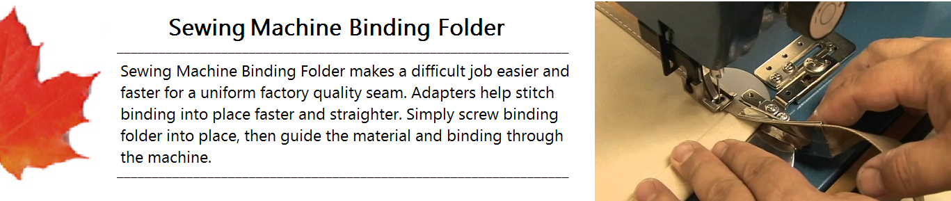 Sewing Machine Binding Folder Banner.