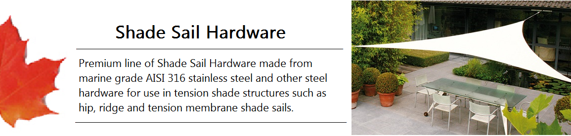 Shade Sail Hardware Banner