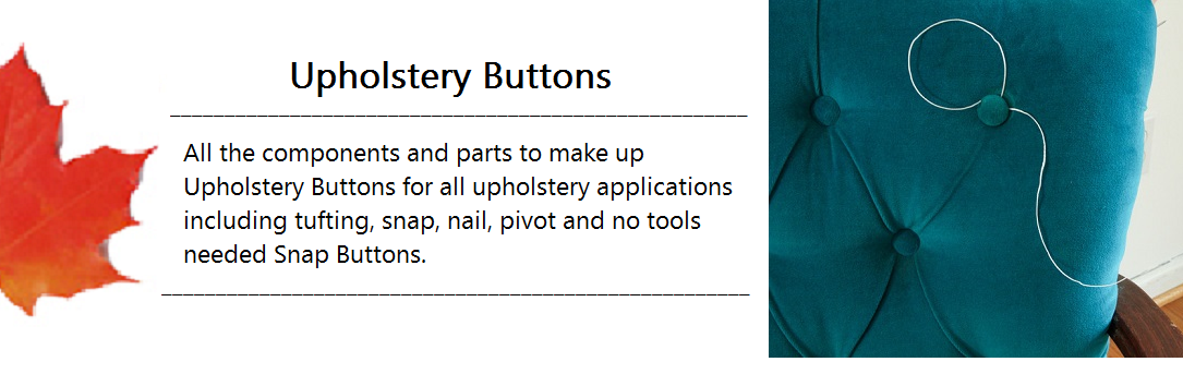 Upholstery Button Banner