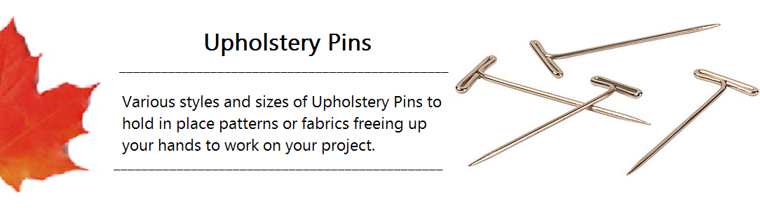 Upholstery Pin Banner