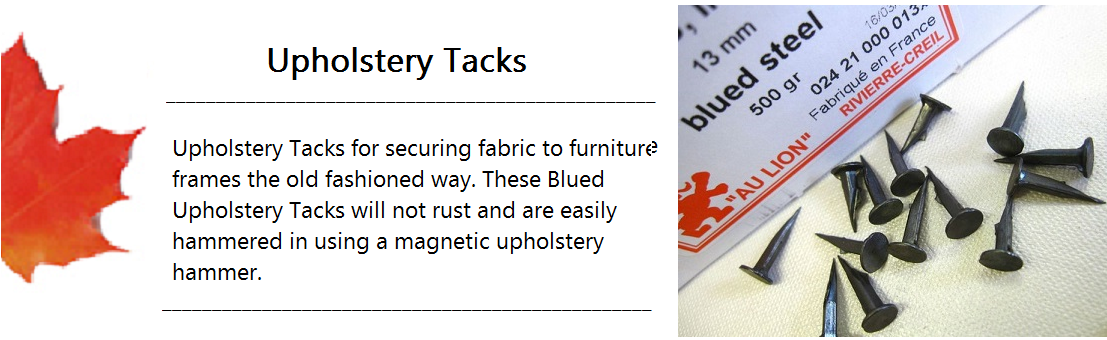 Upholstery Tack Banner
