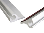 Awning Track With 3M® Gasket - Flanged - White