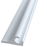 Flanged Awning Track - White