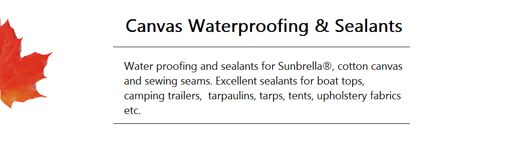 Canvas Waterproofing and Sealants Banner