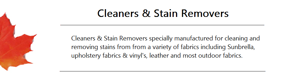 Cleaners and Stain Remover Banner