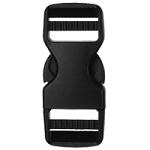 Classic Chamber Dual Adjustable Side Release Buckle - Black