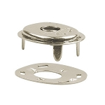 Long Lift-The-Dot Socket - Nickel Plated Brass