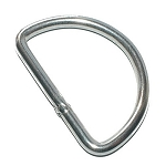 Heavy D-Ring - Nickel Plated Steel