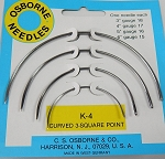 K-4 Curved 3 Square Point Needle Kit