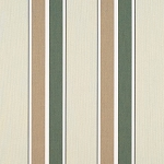 Sunbrella Awning Fabric - Fern/Heather Beige Block Stripe - 4959.0000