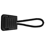 Flat End Zipper Pull - Black