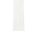 #5 Two Way Separating Zipper - White
